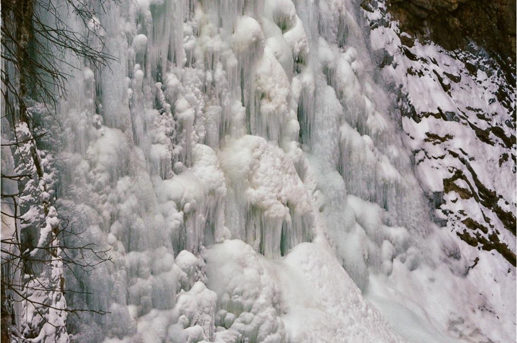 3° Cascata di Riva di Campo Tures Valle Aurina Val Pusteria dettaglio di MGC